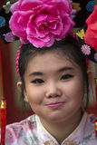Chinese New Year Celebrations - Bangkok - Thailand. Young Thai girl at the Chinese New Year celebrations in Chinatown in Bangkok in Thailand Stock Photography