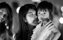 Young thai women and her daughter Royalty Free Stock Image