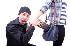 Young thief stock image