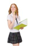 Young thiking student female Royalty Free Stock Photo