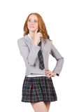 The young thinking student female isolated on Royalty Free Stock Images