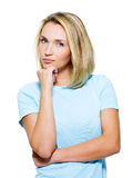 Young thinking woman Royalty Free Stock Photo