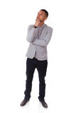 Young thoughtful african american man - Black people Stock Photo