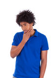 Young thoughtful black teenage men - African people - African pe Stock Photo