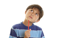 Young thoughtful boy Royalty Free Stock Image