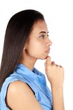 Young thoughtful business woman Stock Photography