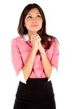 Young thoughtful business woman. Stock Photography