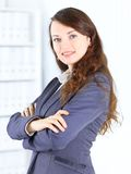 Young thoughtful business woman Stock Image