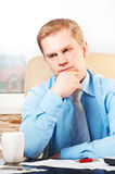 Young thoughtful businessman Stock Photography