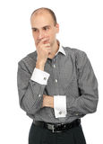 Young thoughtful businessman Stock Photo