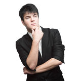 Young thoughtful businessman Royalty Free Stock Image
