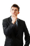 Young thoughtful businessman Stock Image