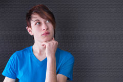 Young thoughtful man with piercing Stock Photos
