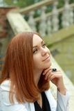 Young thoughtful woman Royalty Free Stock Photography