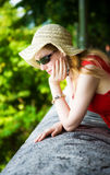 Young thoughtful woman portrait Royalty Free Stock Image
