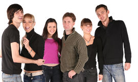 Young three couples Royalty Free Stock Photography
