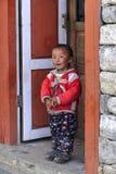 Tibetan Small Girl. Small Tibetan girl in Himalayan region stock photo