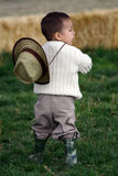 Young Toddler on the Farm Royalty Free Stock Photos