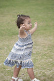 Young toddler walking in the park Royalty Free Stock Photo