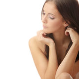 Young topless beautiful woman Royalty Free Stock Photos