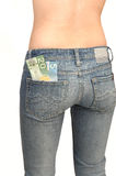 Young Topples Woman In Jeans 3. Royalty Free Stock Photography
