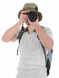 Young tourist with camera Stock Photo