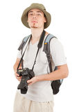 Young tourist with camera Royalty Free Stock Images