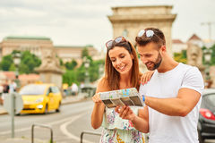 Young tourist couple Royalty Free Stock Photo