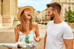 Young tourist couple Stock Image