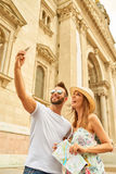 Young tourist couple Stock Images