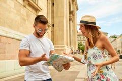 Young tourist couple Stock Photo