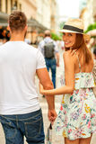 Young tourist couple on the street Stock Photo