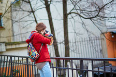 Young tourist in Paris Stock Image