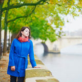 Young tourist in Paris Stock Photo