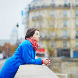 Young tourist in Paris Royalty Free Stock Photography