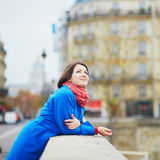 Young tourist in Paris Stock Photography