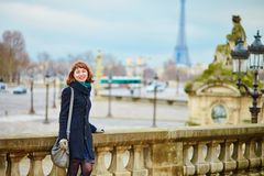 Young tourist in Paris Royalty Free Stock Photo