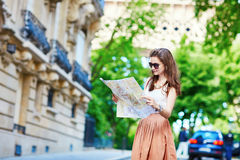 Young tourist on a street of Paris Stock Photography