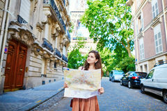 Young tourist on a street of Paris Stock Photo