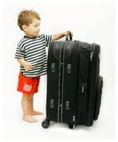 Young tourist with suitcase Stock Photo
