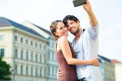 Young Tourists in Munich downtown Royalty Free Stock Images