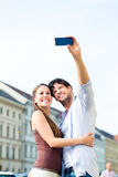 Young Tourists in Munich downtown Royalty Free Stock Photography