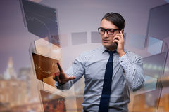 The young trader talking on the phone Stock Images
