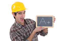 High achieving manual worker Royalty Free Stock Images