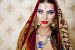 Young traditional Asian Indian woman Stock Images