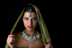 Young traditional Asian Indian woman Royalty Free Stock Photo