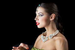Young traditional Asian Indian woman Royalty Free Stock Image