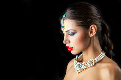 Young traditional Asian Indian woman Royalty Free Stock Images