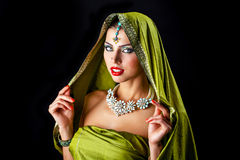 Young traditional Asian Indian woman Royalty Free Stock Photos