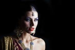 Young traditional Asian Indian woman Stock Photos